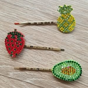 3 for $15 Fruit Hair Pin Sets